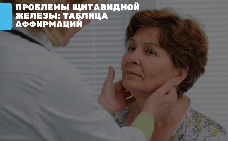 Заболевания щитовидной железы аффирмации